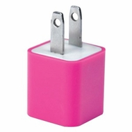 iEssentials IE-ACPUSB-PK 1A iPhone�/iPod�/Smartphone USB Wall Charger (Pink)