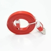 iPhone 5 USB Male to Lightning Male 6 Foot Flat Cable - Red