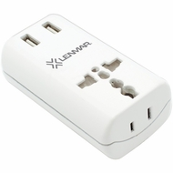 LENMAR AC150USBW Ultracompact All-in-One Travel Adapter with USB Port (White)