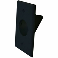 Midlite Splitport� Scoop Cable Pass-Through Wall Plate - Black