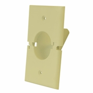 Midlite Splitport� Scoop Cable Pass-Through Wall Plate - Ivory