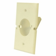 Midlite Splitport� Scoop Cable Pass-Through Wall Plate - Light Almond