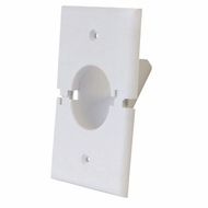 Midlite Splitport� Scoop Cable Pass-Through Wall Plate - White