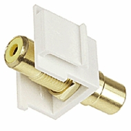 RCA Coupler Insert for Keystone Jack - Yellow
