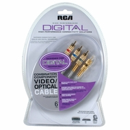 RCA DT6CHP Toslink Audio + Component Video Cable - 6 feet