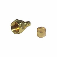 RG59 F-Type Crimp-On Connector, Gold Plated - 5 Pack