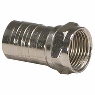 RG6 F-Type Crimp-On Connector w/Attached Crimp Ring - 5 Pack