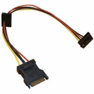 SATA Power Splitter, 1 input, 2 Right Angle Output