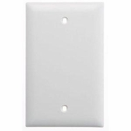 Single Gang Blank Wall Plate - White
