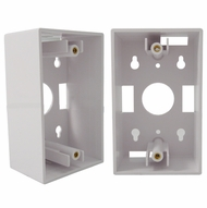 Single Gang Wall Plate Junction Box - White