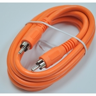 Steren 6 Foot Orange Digital Audio / Subwoofer RCA Cable
