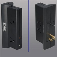 Tripp Lite TLP4BK 4 outlet, Direct plug-in, 670 joule Surge Suppressor