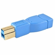 USB 3.0 Adapter Type A  Female / B Male - Blue/Gold