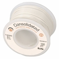 White 25 Foot 16 AWG stranded hook-up wire