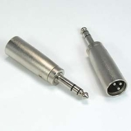 """XLR Male to 1/4"""" Stereo Male Adapter"""