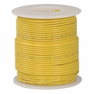 Yellow 100 Foot 22 AWG stranded hook-up wire