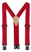 "1-1/2"" Red Original Perry Suspenders - 54"""