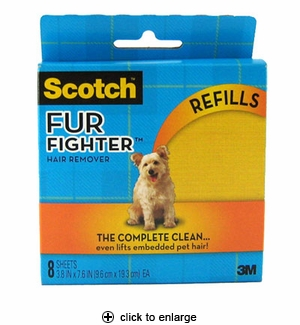 3M Scotch Fur Fighter Pet Hair Remover Refills 8pk
