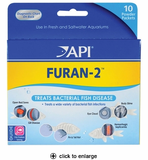 API Furan-2 Anti-Bacterial Fish Medication 10pk