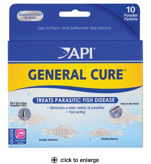API General Cure Anti-Parasitic Fish Medication 10pk