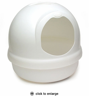 Booda Dome Covered Litter Box Pearl