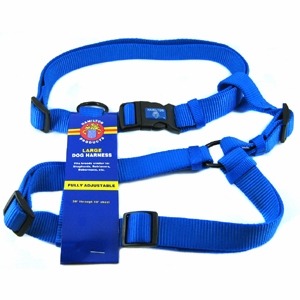 hamilton dog harness how to put on