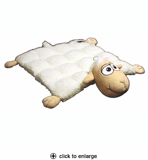 Kyjen Plush Puppies Squeaker Mat Dog Toy Large Sheep