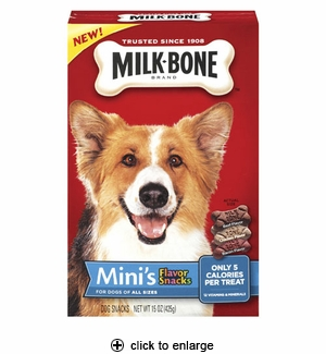 Milk-Bone Mini's Flavor Snacks Dog Biscuits 15 oz