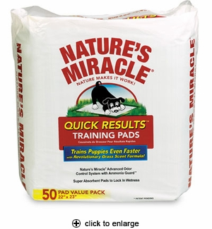 Nature's Miracle Quick Results Training Pads 50pk
