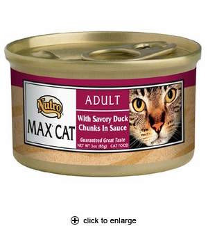 Nutro Max Cat Adult Can Savory Duck 24/3 oz