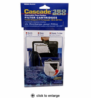 Penn-Plax Cascade 150/200 Filter Cartridges 3pk #CPF34C3