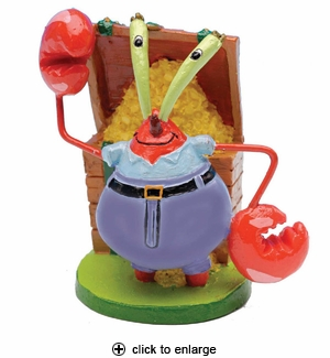 Penn-Plax SpongeBob Mr. Krabs Aquarium Ornament