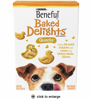 Purina Beneful Baked Delights Quacks Dog Snack 9oz