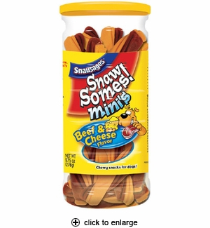 Snausages SnawSomes! Mini's Beef & Cheese Flavor 9.75 oz.