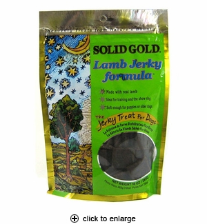 Solid Gold Lamb Jerky Dog Treats 10 oz