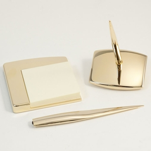 Gold Desk Accessory Set (4 piece)