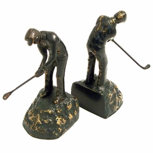 Golfer Bookends
