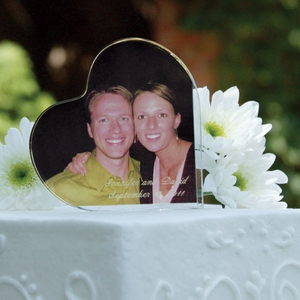 Heart Photo Frame Cake Topper