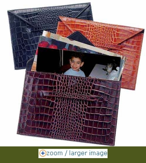 Leather Photo Envelopes - Click to enlarge