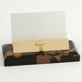 Marble Doctor's Business Card Holder (Black & Tan)