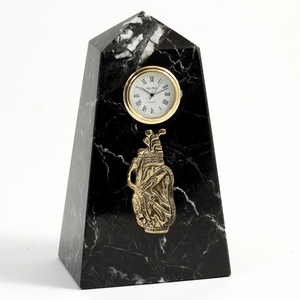 Marble Golf Pillar Clock