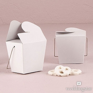 White Chinese Take Out Food Favor Box