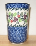 "076 ~ Tumbler (5"" tall)	<br>	1418a ~ Burgandy Berry ~ Blue"