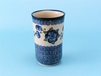 "076 ~ Tumbler (5"" tall)	<br>	163a ~ Blue Poppy"