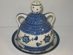 "088 ~ Cheese Lady <BR> LARGE<BR> <small> plate-9"", 8.5"" tall </small>	<br> 163~Blue Poppy"