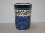 "Utensil Holder~Tall ( 8"")	<br>	1418a ~ Burgandy Berry ~ Blue"