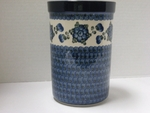 "169 ~ Utensil Holder~Tall ( 8"")	<br>	163a ~ Blue Poppy"