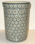 "Utensil Holder~Tall ( 8"")	<br> 504~Green Daisy"