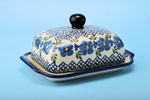 "295 ~ Butter Dish	  <br> 1382~Painted Lace  <br>	<small> 5' x 6 3/4"""" x 3 1/2""""high </small>"