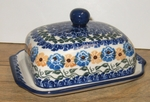 """295 ~ Butter Dish <BR> Euro <small> 5' x 6 3/4"""" x 3 1/2""""high </small> <BR> 1370 Sunny Border"